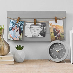 Gray Pallet 3-Opening Collage Frame with Clips