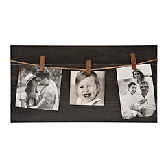 Wood Pallet 3-Opening Collage Frame with Clips