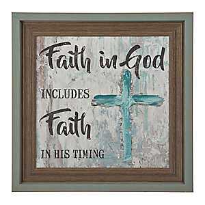 Faith in God Faith in His Timing Framed Art Print