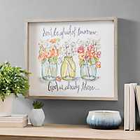 God is Already There Framed Art Print