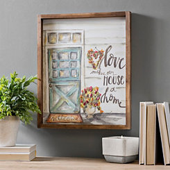 Love Makes Our House A Home Framed Art Print