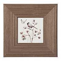 Bird on Cotton Branch Framed Art Print