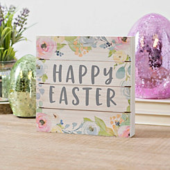 Floral Happy Easter Pallet Block Sign
