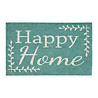 Turquoise Happy Home Doormat