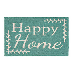 Turquoise Happy Home Doormat