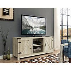 White Oak Barn Doors Media Cabinet