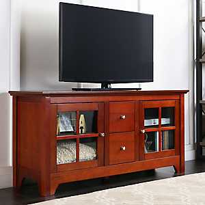 Walnut Brown Media Cabinet
