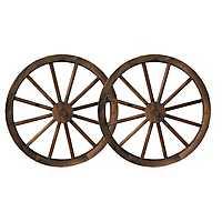 Wagon Wheel Wall Plaques, Set of 2