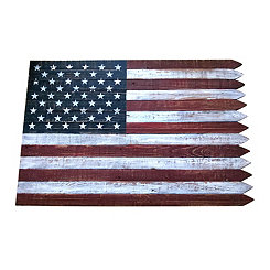 American Flag Picket Edge Wall Plaque