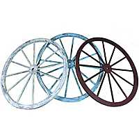 Red, White, and Blue Wagon Wheel Plaques, Set of 3