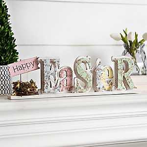 Pre-Lit Easter Tabletop Sign