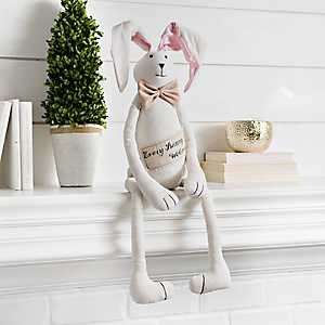 Plush Every Bunny Welcome Wall Sitter