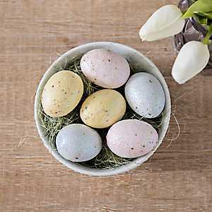 Glitter Easter Egg and Grass Filler, Set of 24