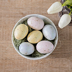 Glitter Easter Egg and Grass Filler, Set of 24
