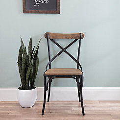 Reclaimed Fir Wood X-Back Chair