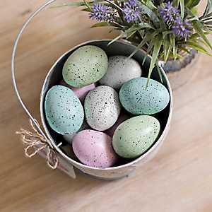 Speckled Easter Egg Filler in Crate, Set of 12