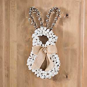 Cotton Bunny Wreath