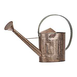 Two-Toned Copper and Galvanized Metal Watering Can