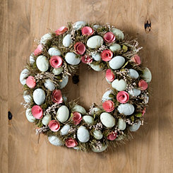 Easter Egg and Rose Grass Wreath