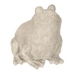 Gray Resin Frog Garden Statue