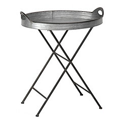 Galvanized Metal Folding Tray Table