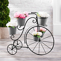 Galvanized Metal Tricycle Planter