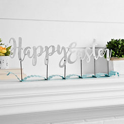 Happy Easter Metal Ribbon Sign