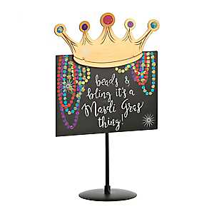 Beads and Bling Tabletop Mardi Gras Sign
