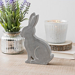 Cement Bunny Statue, 8.25 in.