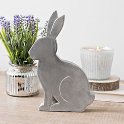 Cement Bunny Statue, 10.8 in.