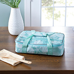 Turquoise Sand Dollar Casserole Tote