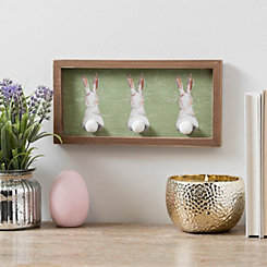 Bunny Bottoms Fur Tail Framed Wooden Wall Plaque