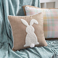 Natural Bunny with Pom Tail Pillow