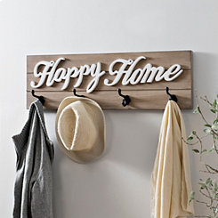 Happy Home Wood Plank Wall Hook