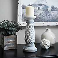 Gray Diamond Candlestick, 12 in.