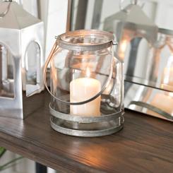 Galvanized Metal Glass Lantern