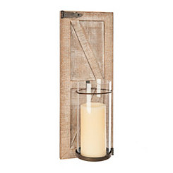 Wooden Barn Door Sconce