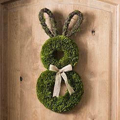 Decorative Moss Easter Bunny Wreath