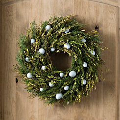 Preserved Boxwood Easter Egg Wreath