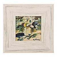 Rustic Blue Florals Framed Art Print