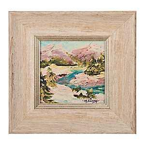 Mountain Scene Champagne Framed Art Print