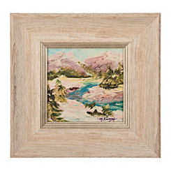 Mountain Scene Champagne Framed Art Print