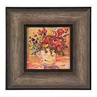 Rustic Warm Florals Framed Art Print