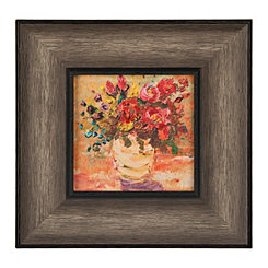Rustic Warm Florals Framed Art Print