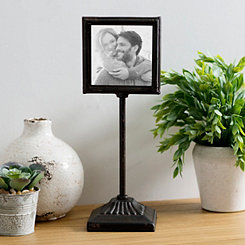 Pedestal Stand Metal Picture Frame, 5x5