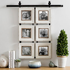 6-Opening Sliding Barn Door Collage Frame