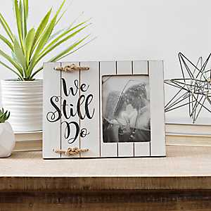 We Still Do Shiplap with Rope Picture Frame, 4x6