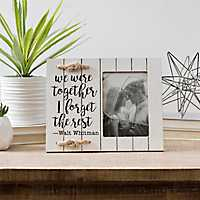 We Were Together Shiplap Picture Frame, 4x6