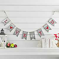 Galvanized Metal Love You Banner