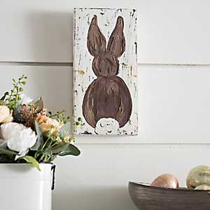Brown Easter Bunny Canvas Art Print